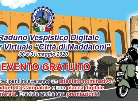 Il Vespa Club Maddaloni lancia il 1° raduno digitale con tour viruale per la città. Appuntamento al 30-31 maggio