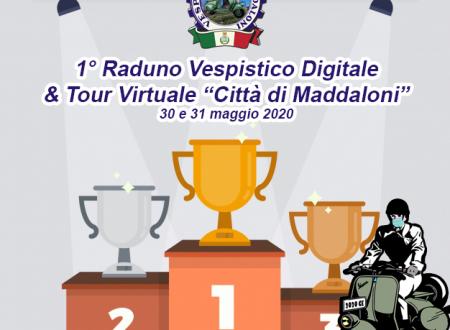 """1° Raduno Vespistico Digitale & Tour Virtuale """"Città di Maddaloni"""": classifiche e premiazioni"""